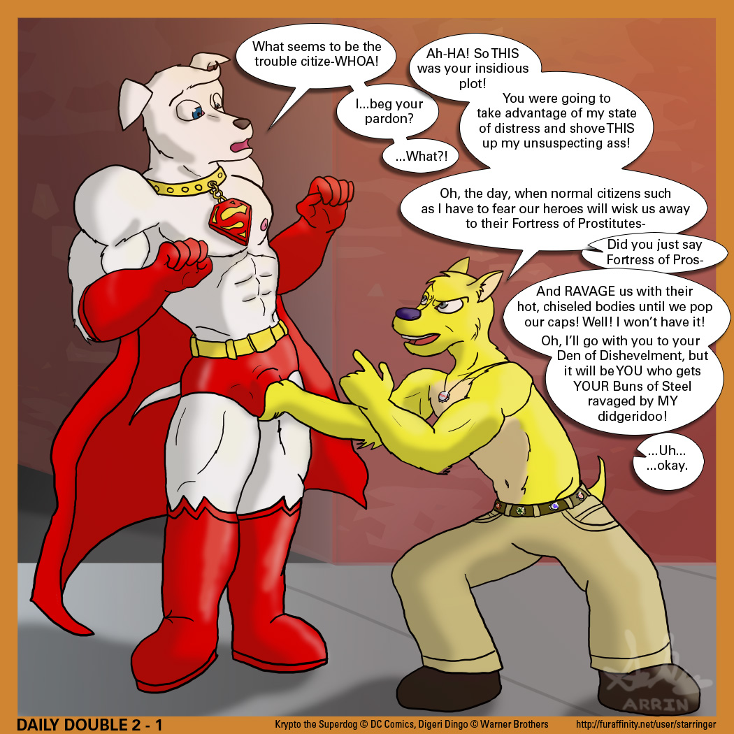superdog barker the brainy krypto Embry trials in tainted space