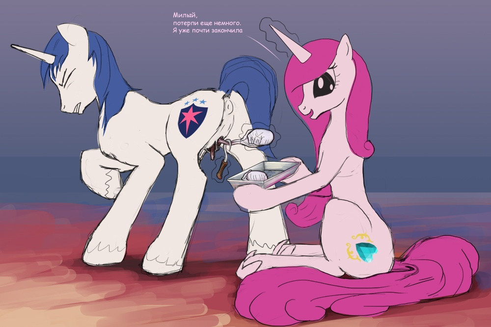 cadence shining princess armor Forced to swallow cum gif